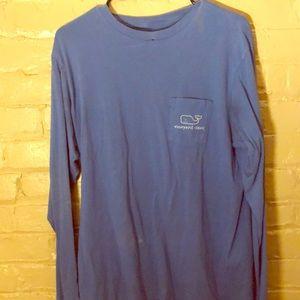 Vineyard Vines Blue Long-Sleeved Shirt